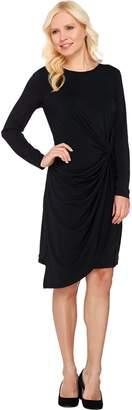 Halston H By H by Jet Set Jersey Drape Knit Dress with Knot Detail