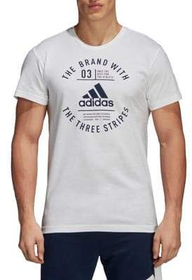 adidas Emblem Cotton Short-Sleeve Tee