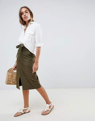 Asos Design DESIGN tailored pencil skirt with obi tie
