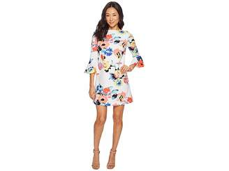 Tahari ASL Petite Trumpet Sleeve Floral Shift Dress Women's Dress