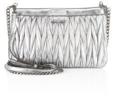 Miu MiuMiu Miu Matelasse Leather Chain Crossbody Bag