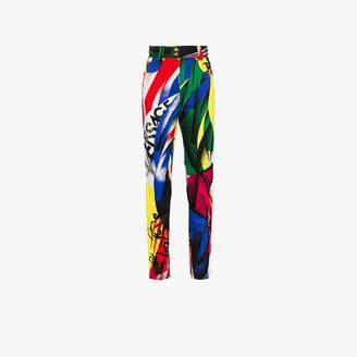 Versace High-Waisted Pattern Jeans