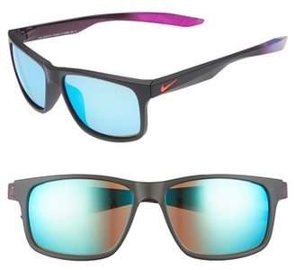 Nike Essential Chaser 57mm Reflective Sunglasses