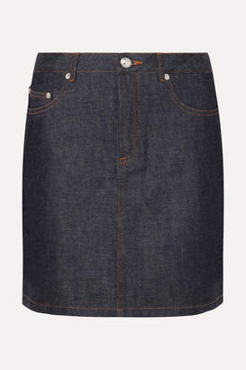 A.P.C. Standard Denim Mini Skirt - Dark denim