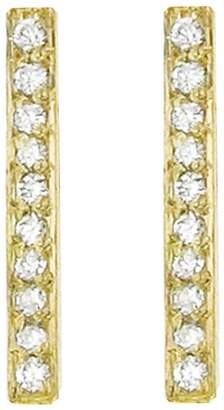 Jennifer Meyer Diamond Long Bar Stud Earrings - Yellow Gold