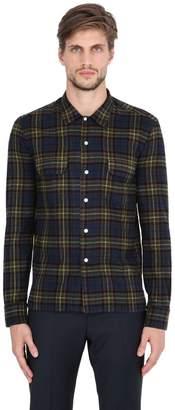 Salvatore Piccolo Plaid Cotton Flannel Shirt