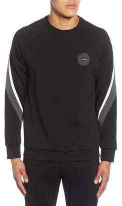 Karl Lagerfeld Paris Stripe Sleeve Detail Crewneck Pullover