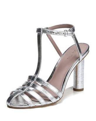 Diane von Furstenberg Eva Caged Metallic Leather Sandal
