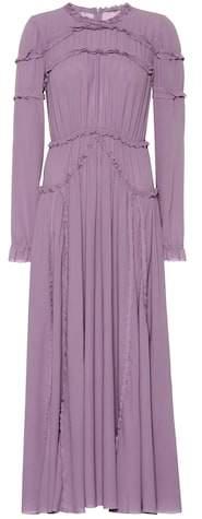 Silk georgette midi dress