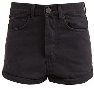 Raey Low Cut Off Denim Shorts - Womens - Black