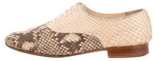 Christian Louboutin Snakeskin Lace-Up Oxfords