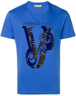 Versace Animal V print T-shirt