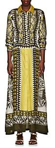 Alberta Ferretti Women's Geometric-Print Silk Midi-Dress - Yellow