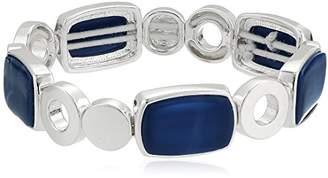 Nine West Silver-Tone and Stretch Bracelet