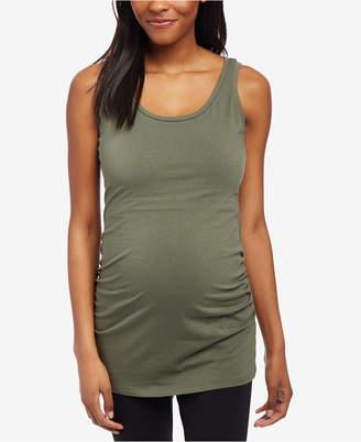 Motherhood Maternity Ruched Scoop-Neck Tank Top