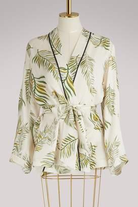 """Forte Forte Desert Leaf"""" printed jacket"""