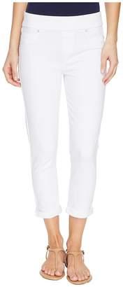 Liverpool Sienna Pull-On Rolled-Cuff Capris Slub Stretch Twill in Bright White Women's Jeans