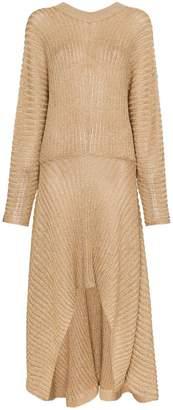 Chloé Knitted Asymmetric Maxi Dress
