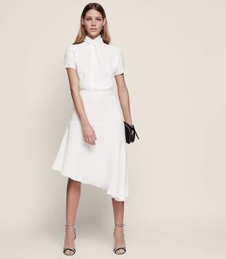 Reiss Zinc Halterneck Midi Dress