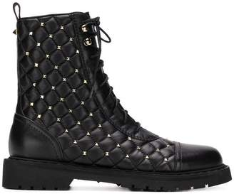 Valentino Rockstud quilted boots