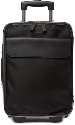 "Versace 17"" Leather Trimmed Rolling Carry-On"