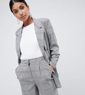 Vero Moda Tall Check Double Breasted Blazer