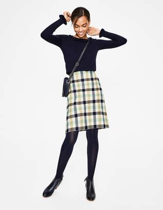 Boden British Tweed Mini Skirt
