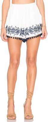 Show Me Your Mumu Laney Pom Pom Shorts $106 thestylecure.com