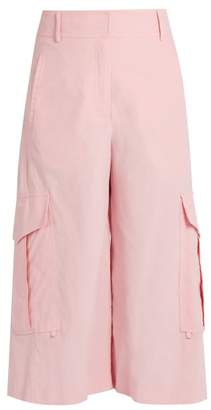 Sies Marjan - Sidney Cropped Wide Leg Cotton Cargo Trousers - Womens - Light Pink