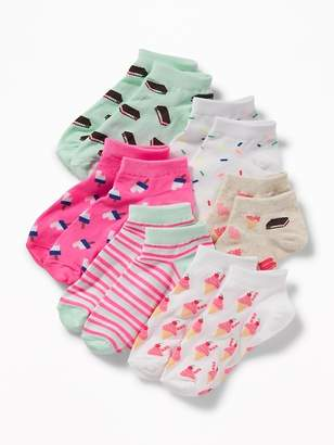 Old Navy Printed Ankle Socks 6-Pack for Girls