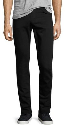 J Brand Tyler Taper-Fit Jeans, Seriously Black $198 thestylecure.com