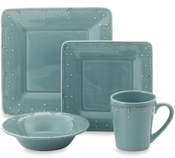 Bed Bath & Beyond Genevieve Slate Square Dinnerware Collection