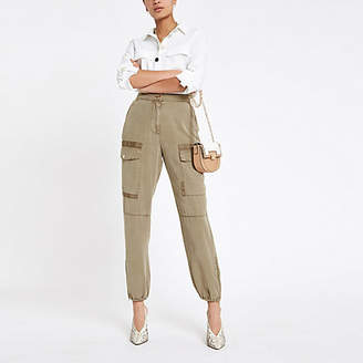 River Island Womens Beige Hailey utility trousers