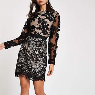 River Island Forever Unique black lace bodycon dress