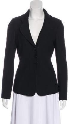 St. John Knit Button-Up Blazer