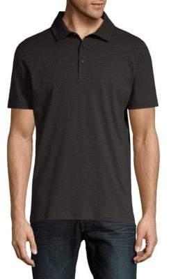 Saks Fifth Avenue Short-Sleeve Printed Cotton Polo