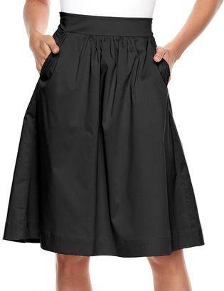 Women's Apt. 9® Poplin Midi Skirt $40 thestylecure.com