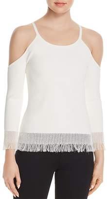 Bailey 44 Savanna Fringe Cold-Shoulder Sweater