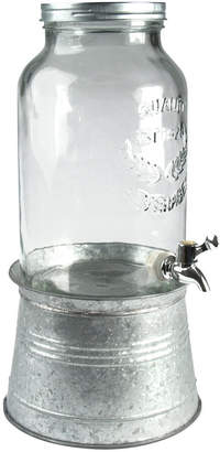 Artland Oasis Galvanized Tin and Glass Beverage Dispenser