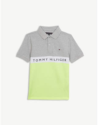 aaec6a6388dd at Selfridges · Tommy Hilfiger Colour block logo polo shirt 4-16 years