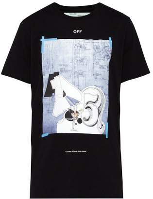 Off-White Off White Dondi Print Cotton T Shirt - Mens - Black
