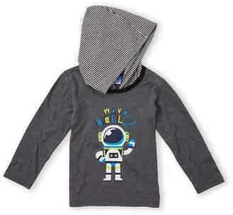 Kapital K (Boys 4-7) Robot Long Sleeve Hoodie Tee