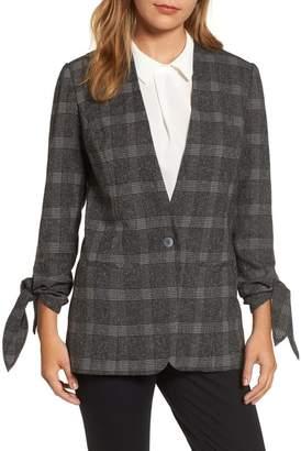 Halogen Tie Sleeve Blazer (Regular & Petite)