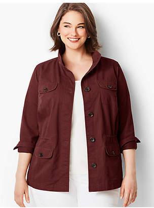 Talbots Twill Shirt Jacket