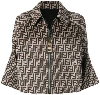 Fendi FF logo bomber jacket