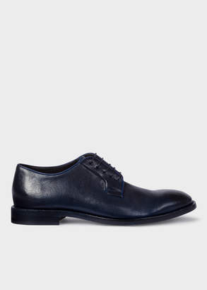 Paul Smith Men's Dark Navy Leather 'Chester' Flexible Travel Shoes