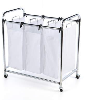Honey-Can-Do 3 Section Plated Heavey Duty Laundry Sorter