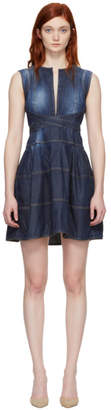 DSQUARED2 Blue Panelled Strap Dress