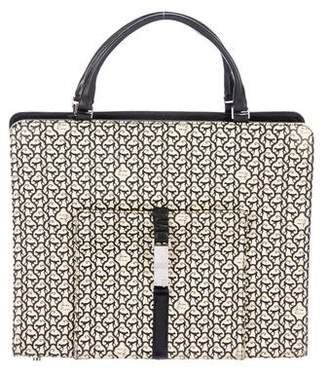 Nina Ricci Printed Leather Handle Bag