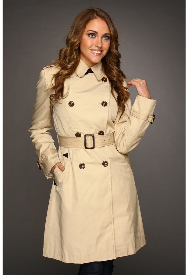 Vince Camuto Traditional Trench (Tan) - Apparel